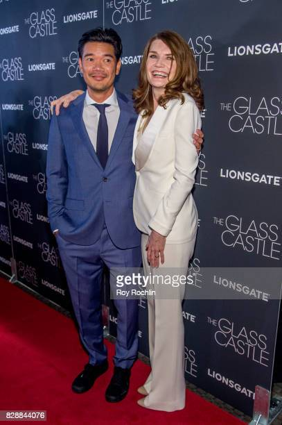 Writer Destin Daniel and Author Jeannette Walls attend The Glass Castle New York screening at SVA Theatre on August 9 2017 in New York City