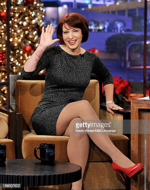 Writer Diablo Cody appears on the Tonight Show With Jay Leno at NBC Studios on December 19 2011 in Burbank California