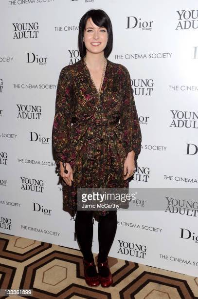 Writer Diablo Cody attends the Cinema Society Dior Beauty screening of Young Adult at the Tribeca Grand Screening Room on November 18 2011 in New...