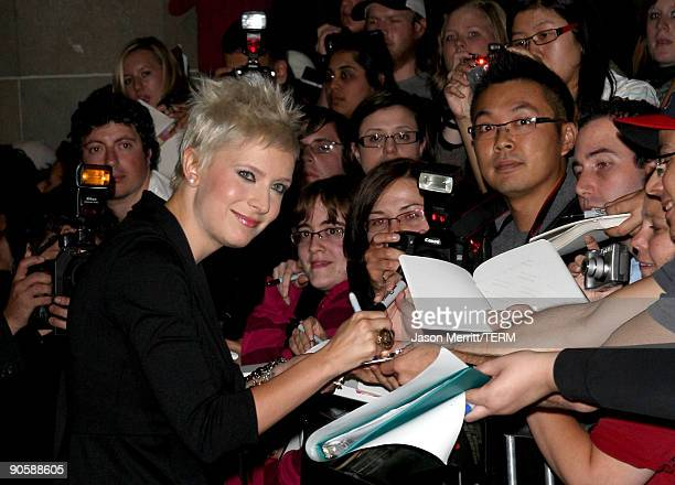 "Writer Diablo Cody signs autographs as she arrives at the Toronto International Film Festival Midnight Madness screening ""Jennifer's Body"" held at..."