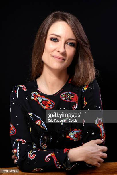Writer Diane Ducret poses during a portrait session in Paris France on