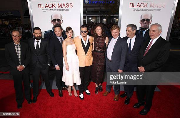 Writer Dick Lehr, actor Rory Cochrane, director Scott Cooper, actress Dakota Johnson, actor Johnny Depp, actress Julianne Nicholson, actor Jesse...