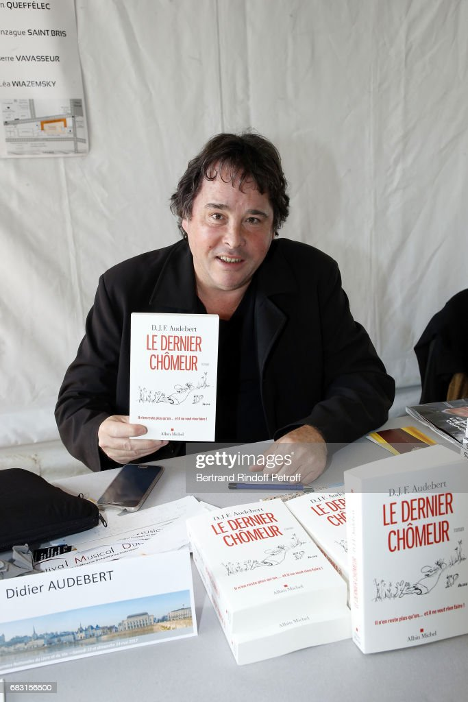 Writer Didier Audebert attends Tribute To Jean-Claude Brialy during 'Journees Nationales du Livre et du Vin'on May 14, 2017 in Saumur, France.