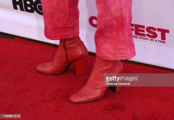 Writer director and actress Hannah Pearl Utt shoe detail arrives at the 2019 Outfest Los Angeles LGBTQ Film Festival Closing Night Gala Premiere of...