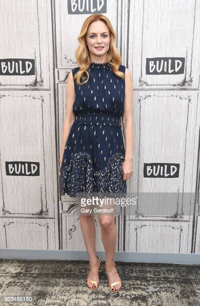 Writer director and actress Heather Graham visits Build Series to discuss her new film 'Half Magic' at Build Studio on February 23 2018 in New York...