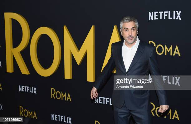 Writer director and cinematographer Alfonso Cuaron arrives at the Los Angeles Premiere of Alfonso Cuaron's Roma at American Cinematheque's Egyptian...