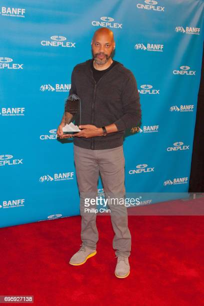 Writer Director and Executive Producer John Ridley receives the Showrunner of the Year Award at the Rockie Awards Gala Cermemony during the 2017...