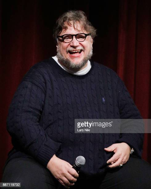 Writer director and producer Guillermo del Toro on stage during The Academy of Motion Picture Arts Sciences Official Academy Screening of The Shape...