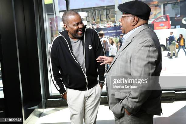 """Writer director and producer Lee Daniels speaks with Charles Allen son of Eugene Allen whom his film """"The Butler"""" was based upon when he visits..."""