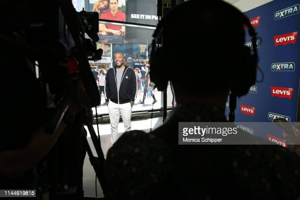 Writer director and producer Lee Daniels visits 'Extra' at The Levi's Store Times Square on April 23 2019 in New York City