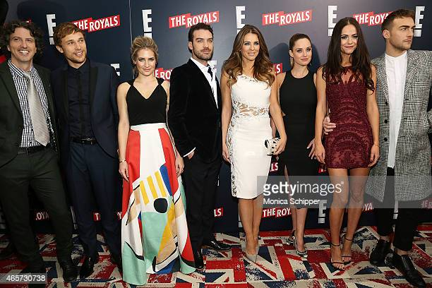 Writer director and producer Mark Schwahn and actors William Moseley Sophie Colquhoun Jake Maskall Elizabeth Hurley Merritt Patterson Alexandra Park...