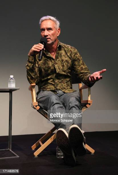 Writer director and producer Roland Emmerich attends Meet the Filmmaker Roland Emmerich 'White House Down' at the Apple Store Soho on June 24 2013 in...
