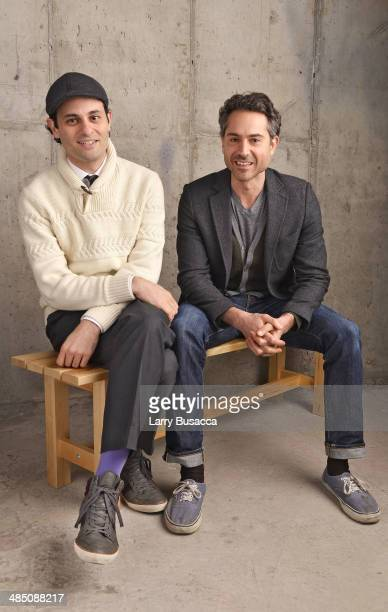 Writer/ Director Arian Moayed and actor Omar Metwally pose at the 2014 Tribeca Film Festival Getty Images Studio on April 16 2014 in New York City