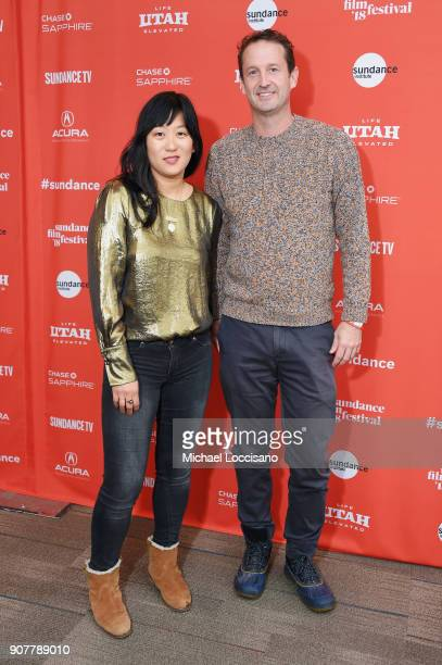 Writer/ Director Christina Choe and Director of Programming at Sundance Film Festival Trevor Groth attend Nancy Premiere at Park City Library at 2018...