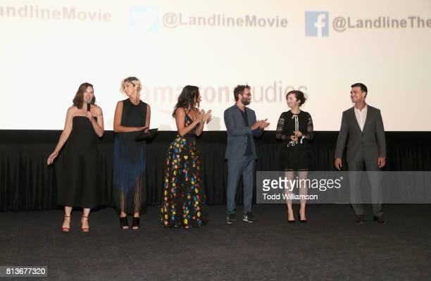 Writer/ director Gillian Robespierre producer Elisabeth Holm Jenny Slate Jay Duplass Abby Quinn and Finn Wittrock attend the Los Angeles premiere of...