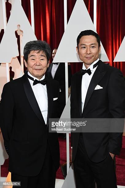 Writer Director Isao Takahata and Producer Yoshiaki Nishimura attend the 87th Annual Academy Awards at Hollywood & Highland Center on February 22,...