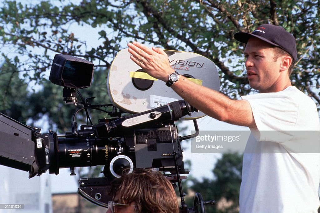 Writer Director Mike Judge On The Set Of Twentieth Century Fox New Release Office Space : News Photo