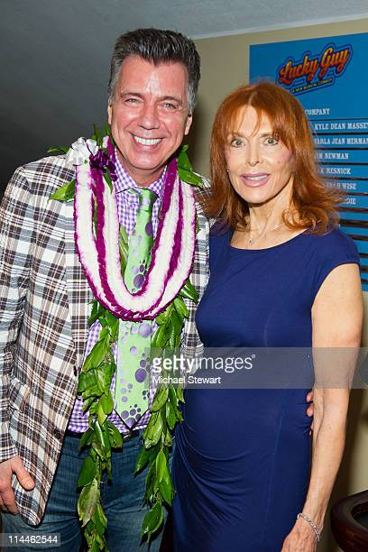 Writer / director Willard Beckham and actress Tina Louise attend the OffBroadway opening night of 'Lucky Guy' at Little Shubert Theatre on May 19...