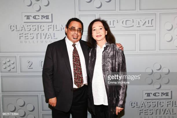 Writer Donald Bogle and Actor Nancy Kwan attend the screening of 'The World of Suzie Wong' during day 3 of the 2018 TCM Classic Film Festival on...