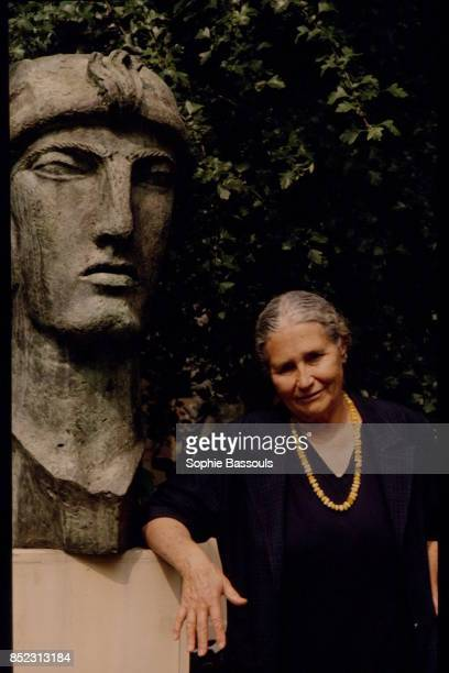 Writer Doris Lessing at the Musee Bourdelle dedicated to sculpter EmileAntoine Bourdelle in Paris just after having published the French translation...