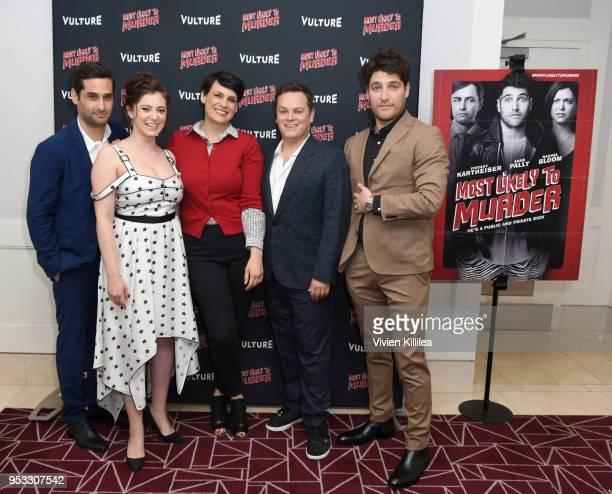 Writer Doug Mand Hollywood Editor at Vulture Stacey Wilson Hunt actress Rachel Bloom director Dan Gregor and actor Adam Pally attend Vulture and...