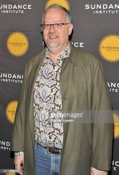 Writer Doug Wright attends the 2012 Sundance Institute Theatre Program New York benefit reception at The Bowery Hotel on March 12 2012 in New York...