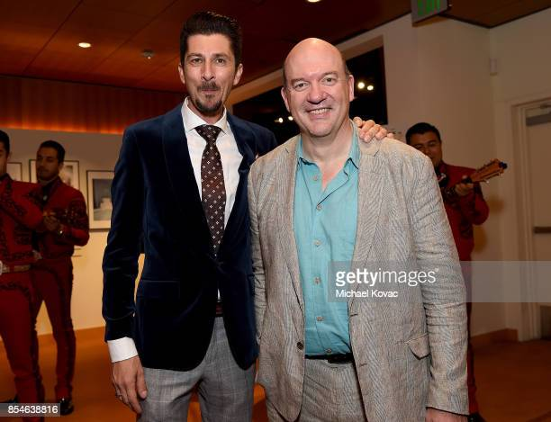Writer Drago Sumonja and director John Caroll Lynch attend the after party for the Los Angeles premiere of 'Lucky' at Linwood Dunn Theater on...