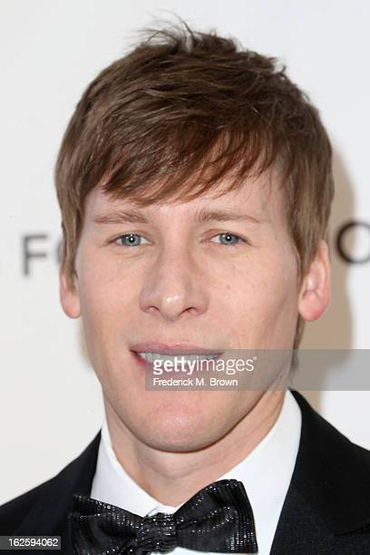 Writer Dustin Lance Black arrives at the 21st Annual Elton John AIDS Foundation's Oscar Viewing Party on February 24 2013 in Los Angeles California