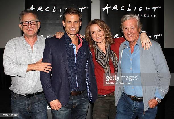 Writer Ed Neumeier actor Casper Van Dien actress Dina Meyer and director Paul Verhoeven attend the Arclight Presents screening of Starship Troopers...