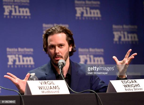 Writer Edgar Wright speaks at The Writers Panel during The 33rd Santa Barbara International Film Festival at Lobero Theatre on February 3 2018 in...
