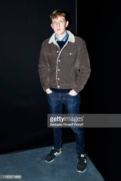 Writer Edouard Louis attends the Saint Laurent show as part of the Paris Fashion Week Womenswear Fall/Winter 2019/2020 on February 26 2019 in Paris...