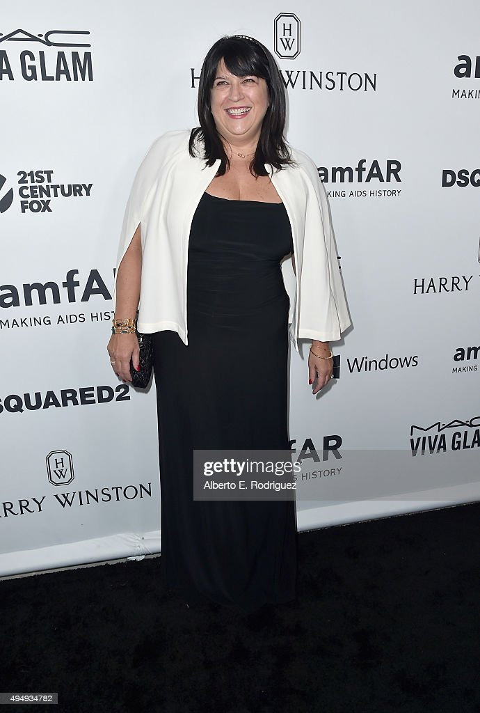 Writer E.L. James attends amfAR's Inspiration Gala Los Angeles at Milk Studios on October 29, 2015 in Hollywood, California.