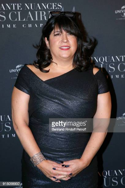 Writer EL James attends the Fifty Shades Freed 50 Nuances Plus Clair Paris Premiere at Salle Pleyel on February 6 2018 in Paris France
