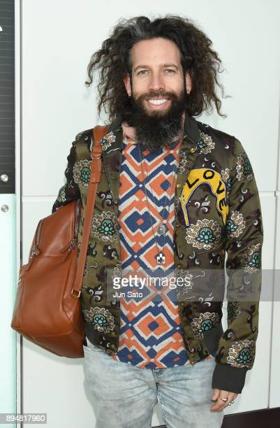 Writer Elan Gale is seen upon arrival at Haneda Airport on December 18 2017 in Tokyo Japan