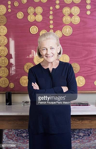 Writer Elisabeth Badinter is photographed for Paris Match on October 20 2016 in Paris France