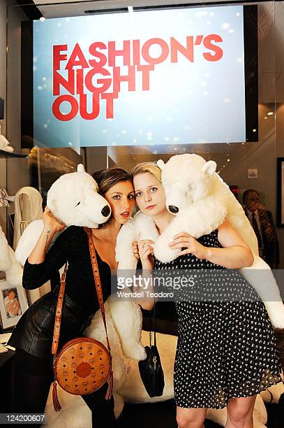 Writer Elizabeth Katharine James and Kristen Curtis at the OC Concept Store on September 8 2011 in New York City