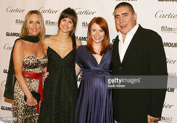 Writer Elizabeth Schemmer actress Katherine Waterston actress/director Bryce Dallas Howard and actor Alfred Molina attend Glamour Reel Moments a...