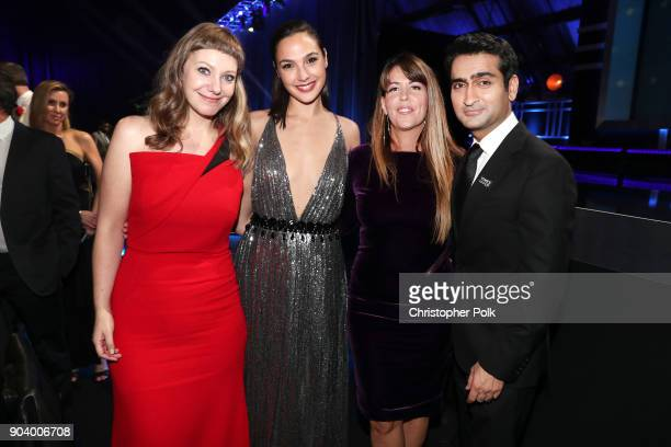 Writer Emily V Gordon actor Gal Gadot director Patty Jenkins and actor Kumail Nanjiani attend The 23rd Annual Critics' Choice Awards at Barker Hangar...