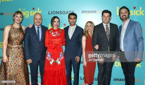 Writer Emily V Gordon actors Anupam Kher Zoe Kazan Kumail Nanjiani Holly Hunter director Michael Showalter and actor Ray Romano attends 'The Big...