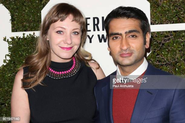 Writer Emily V Gordon and Actor / Comedian Kumail Nanjiani attend Esquire's annual 'Maverick's Of Hollywood' event at Sunset Tower on February 20...