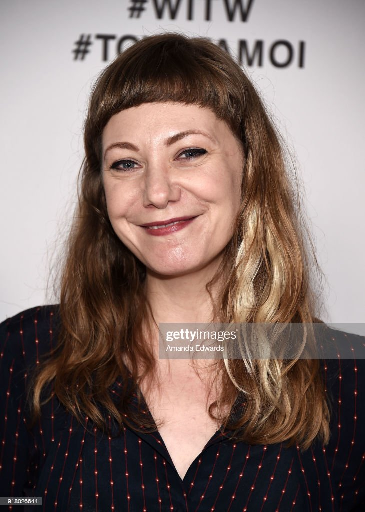 Writer Emily V. Gordon arrives at the 2018 Women In The World Los Angeles Salon at NeueHouse Hollywood on February 13, 2018 in Los Angeles, California.