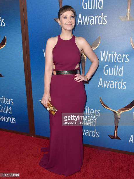 Writer Emily V Gordon attends the 2018 Writers Guild Awards LA Ceremony at The Beverly Hilton Hotel on February 11 2018 in Beverly Hills California