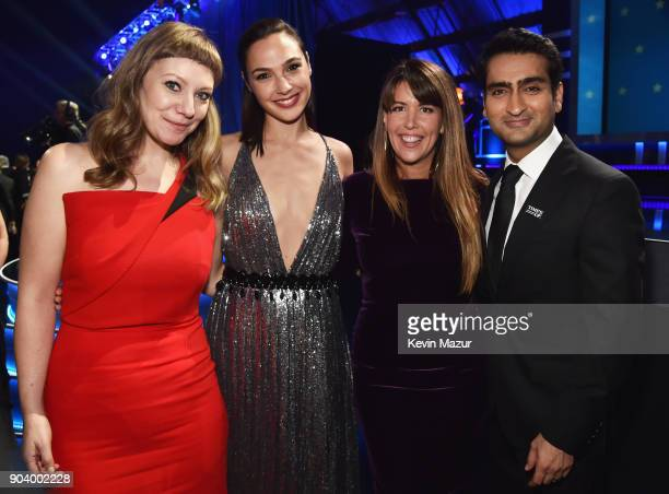 Writer Emily V Gordon honoree Gal Gadot directorwriter Patty Jenkins and writeractor Kumail Nanjiani attend The 23rd Annual Critics' Choice Awards at...