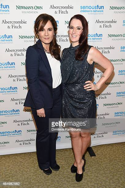 Writer Emily Wachtel and musician Ingrid Michaelson attend SeriousFun Children's Network's New York City Gala at Avery Fisher Hall Lincoln Center on...