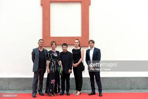 Writer Emmanuel Carrere Actress Isabella Ragonese Director Jia Zhangke Director Tizza Covi and Director Sean Baker attend the International...