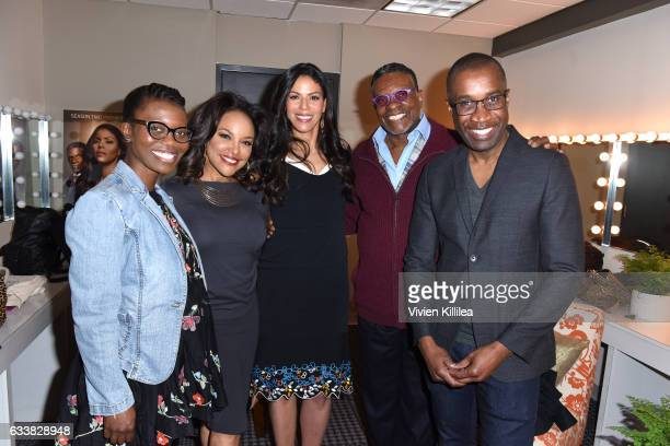 Writer Erica L Anderson actors Lynn Whitfield Merle Dandridge Keith David and director Clement Virgo attend QA for 'Greenleaf' on Day Three of...