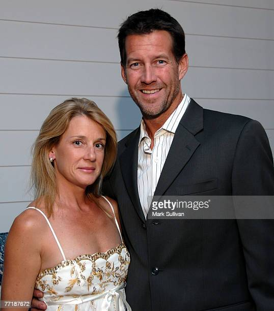Writer Erin O'Brien Denton and actor James Denton attend the Stuart Weitzman ovarian cancer shoe auction and dinner held in Los Angeles, California...