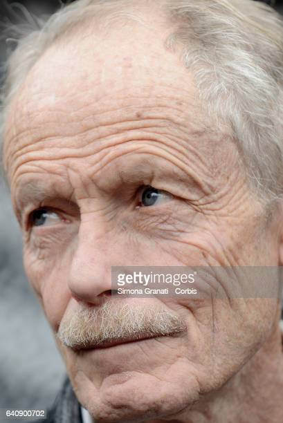 Writer Erri De Luca at the presentation of Meal Suspended at Casetta Rossa in Garbatellaon February 2 2017 in Rome Italy The initiative promotes the...