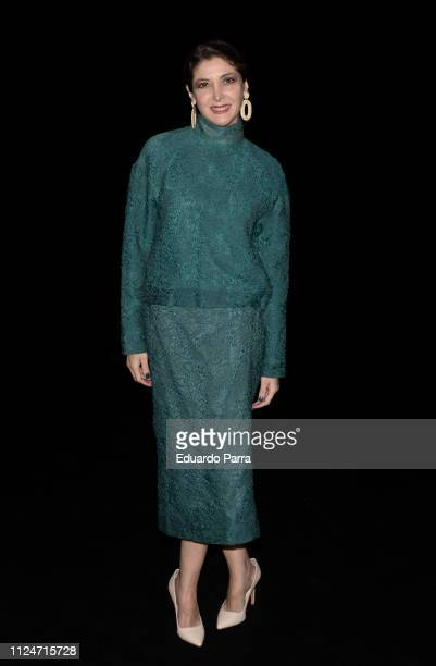 Writer Espido Freire attends The 2nd Sking Co fashion show during the Mercedes Benz Fashion Week Autumn/Winter 2019-2020 at Ifema on January 25, 2019...