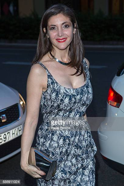 Writer Espido Freire is seen arriving to 'Nuestros Amantes' premiere at Palafox Cinema on May 30 2016 in Madrid Spain